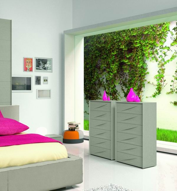 Made in Italy Wood Modern Master Bedroom Set with Extra Storage - Click Image to Close