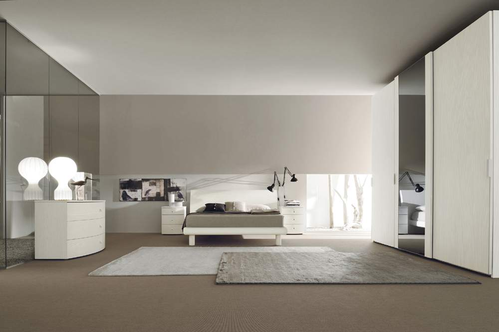 Made in Italy Wood Modern Bedroom Sets with Optional