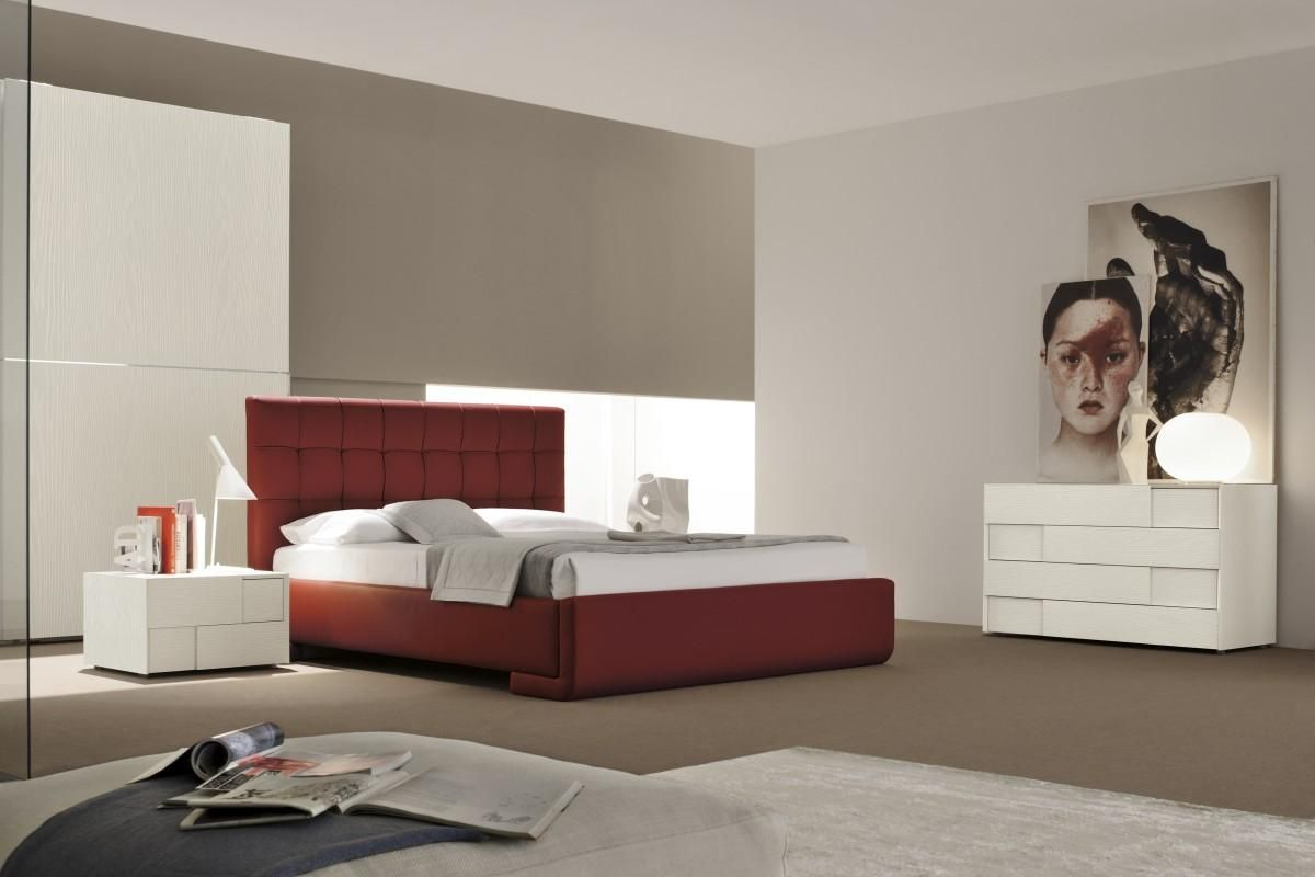 Made in Italy Leather Contemporary Master Bedroom Designs with Extra Storage