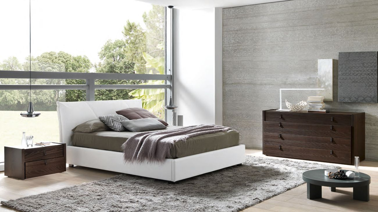 Made In Italy Leather Master Bedroom Design With Extra Storage Houston  Texas SMAESPR