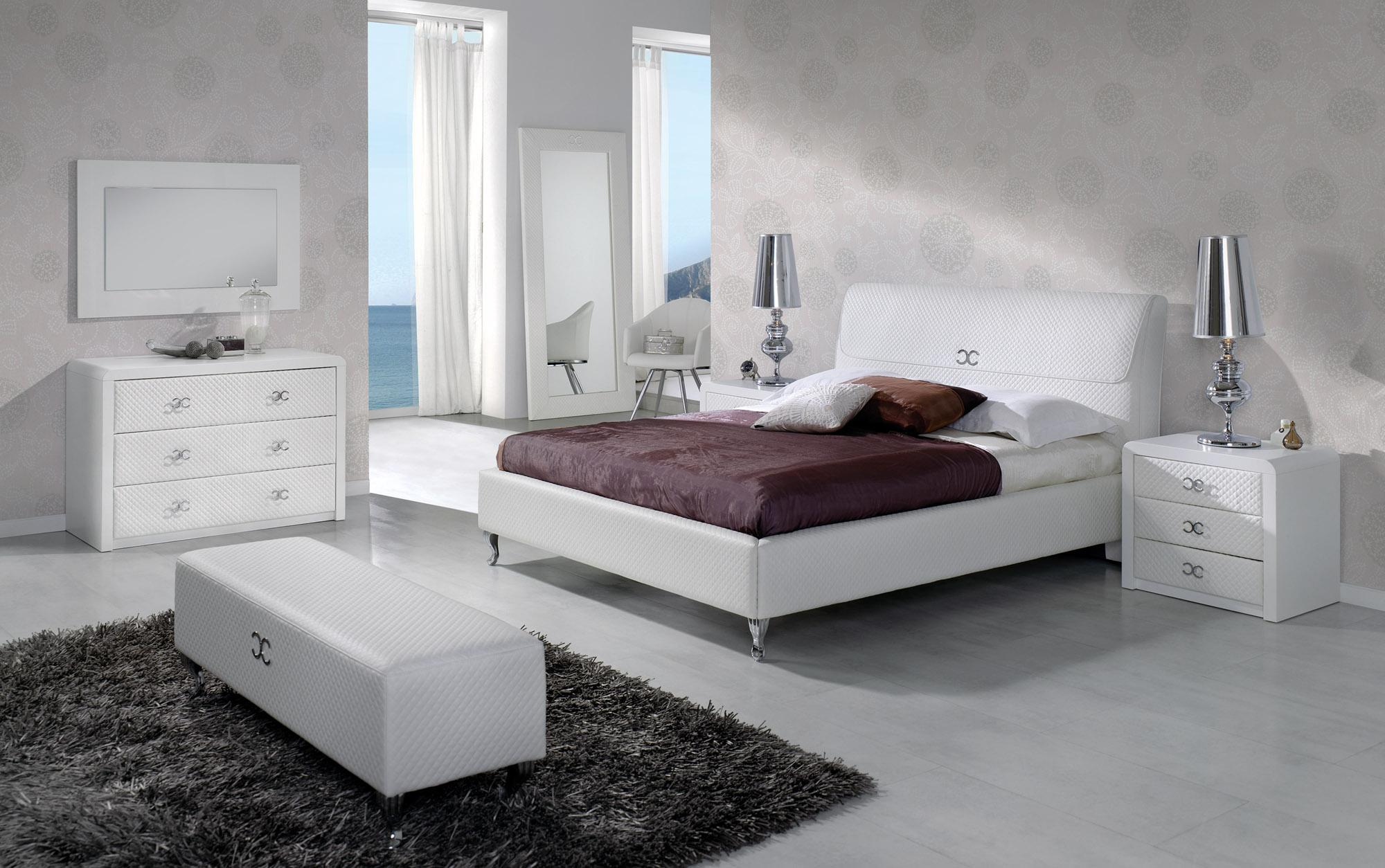 Bedroom Sets Collection  Master Furniture Made in Spain Leather Contemporary High End with Float