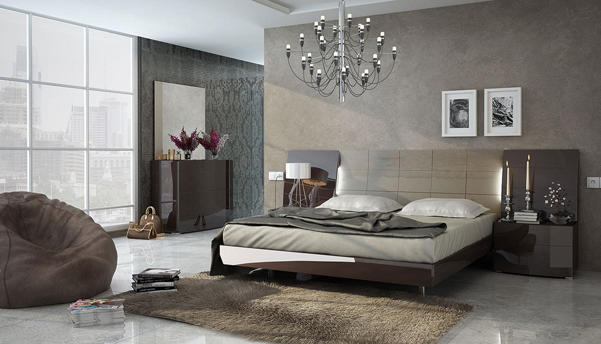 Http Www Primeclassicdesign Com Gorgeous Brown And Beige High Gloss Lacquer Spain Made Bedroom Set P 5908 Html