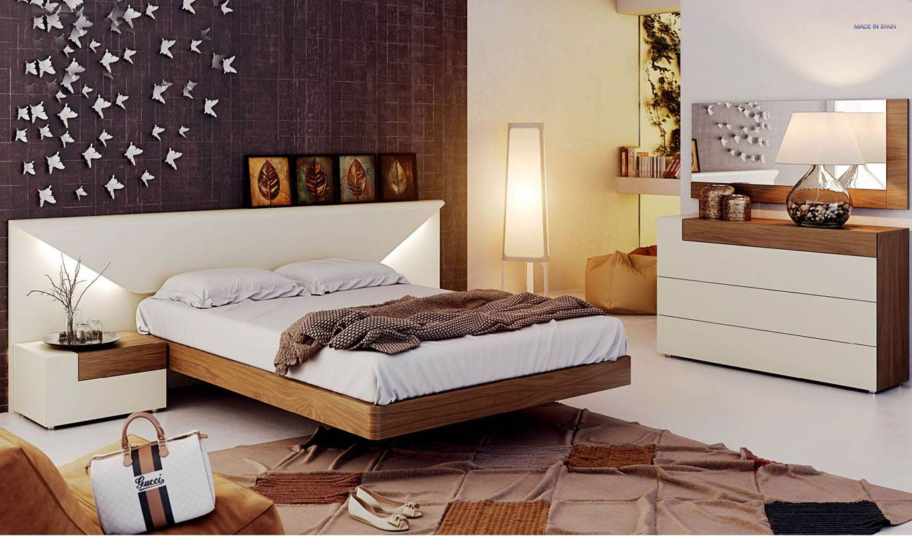 Fashionable wood designer bedroom with extra storage austin texas esf elena No dresser in master bedroom