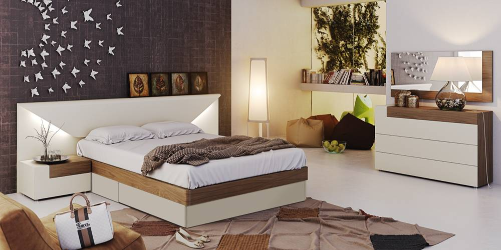 captivating italian contemporary bedroom sets | Fashionable Wood Designer Bedroom with Extra Storage ...