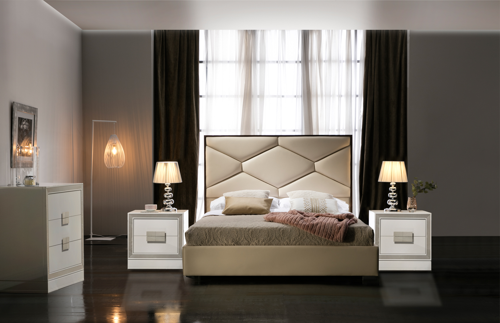 Leather Headboard High End Bedroom Furniture New York New