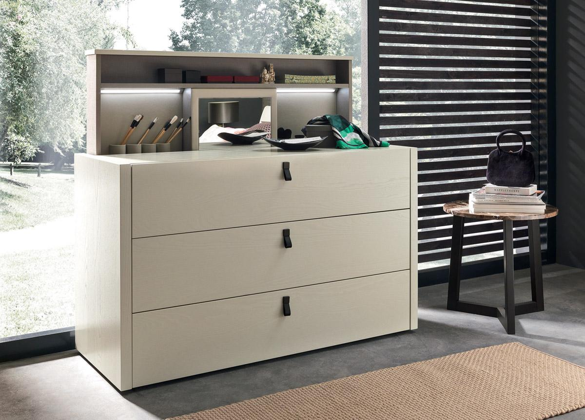 Made in Italy Wood Design Bedroom Furniture with Optional Storage System - Click Image to Close