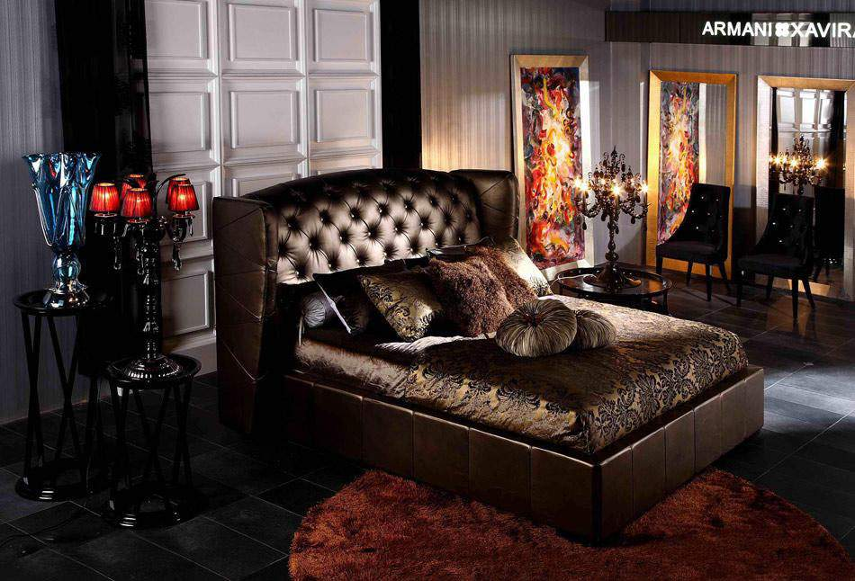 Elegant Leather Modern Platform Bed San Francisco California VAA218