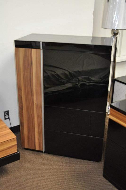 Exclusive Leather Designer Bedroom Set With Blue Light
