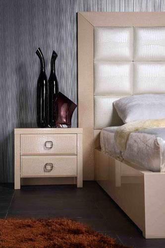 Unique Leather Contemporary Platform Bedroom Sets Virginia