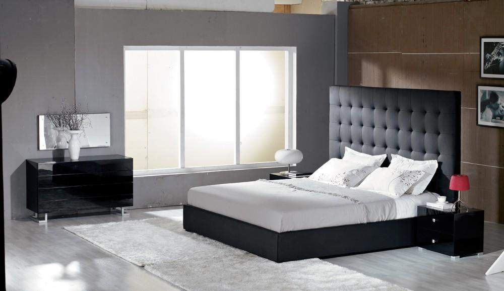 Unique Leather Luxury Bedroom Set