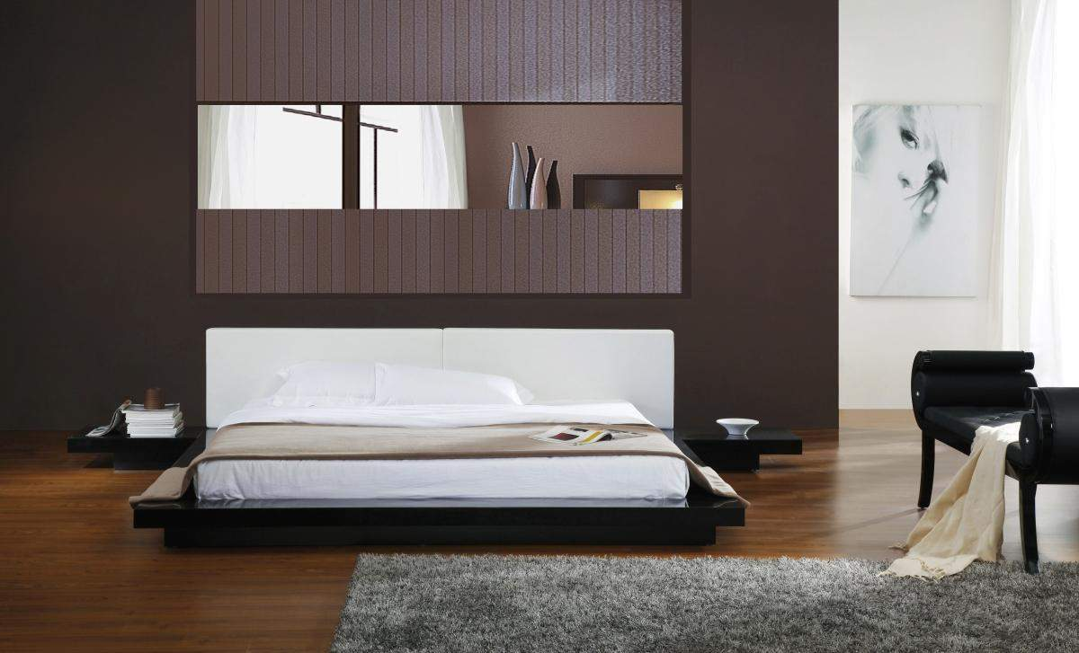 V Opal Black Bedroom