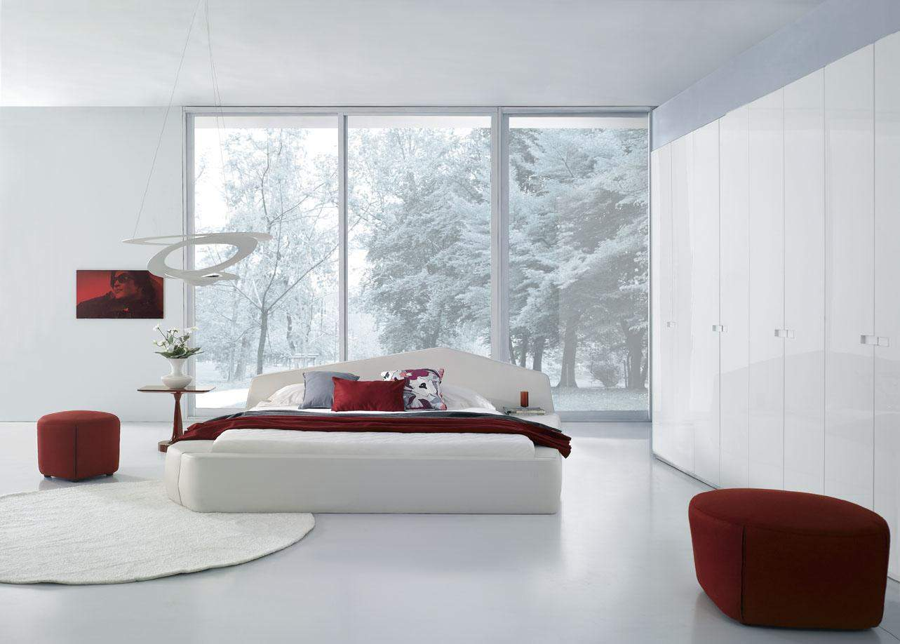 Unique leather modern contemporary bedroom designs for Contemporary furniture