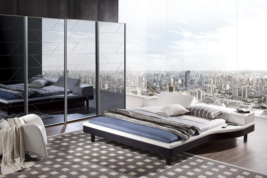 Italian Quality Leather Contemporary Master Bedroom Designs Honolulu