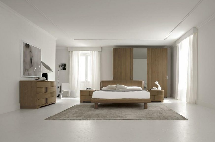 Made In Italy Wood Luxury Bedroom Furniture Sets With Extra Storage
