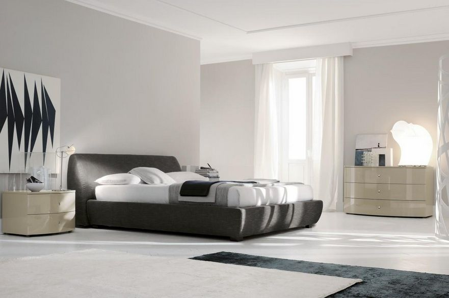 Made in italy leather high end contemporary furniture for New style bedroom sets