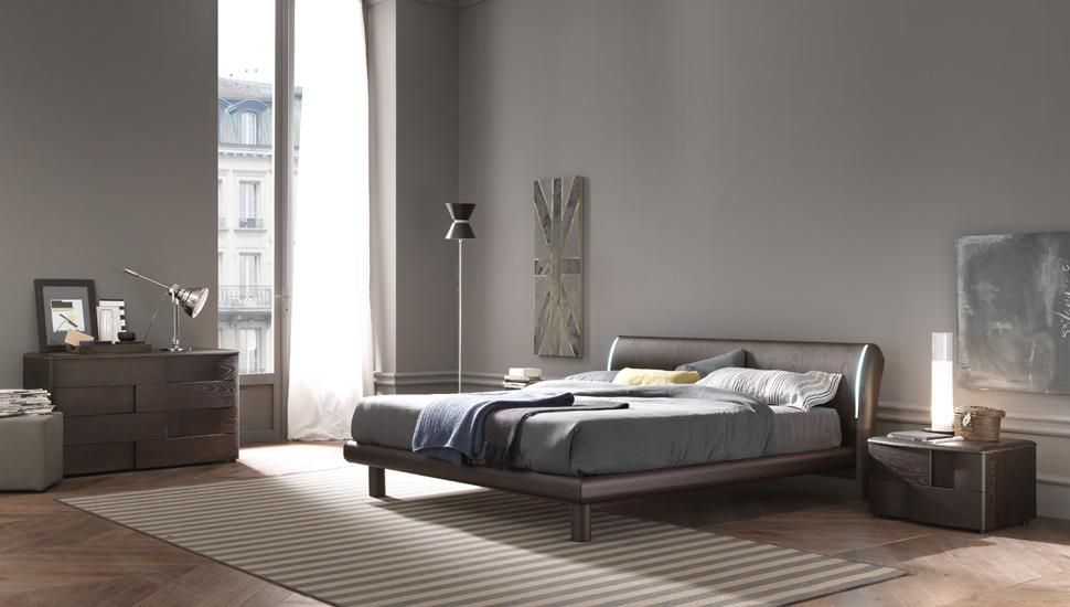 Made in Italy Wood Luxury Bedroom Set with Optional Storage System ...