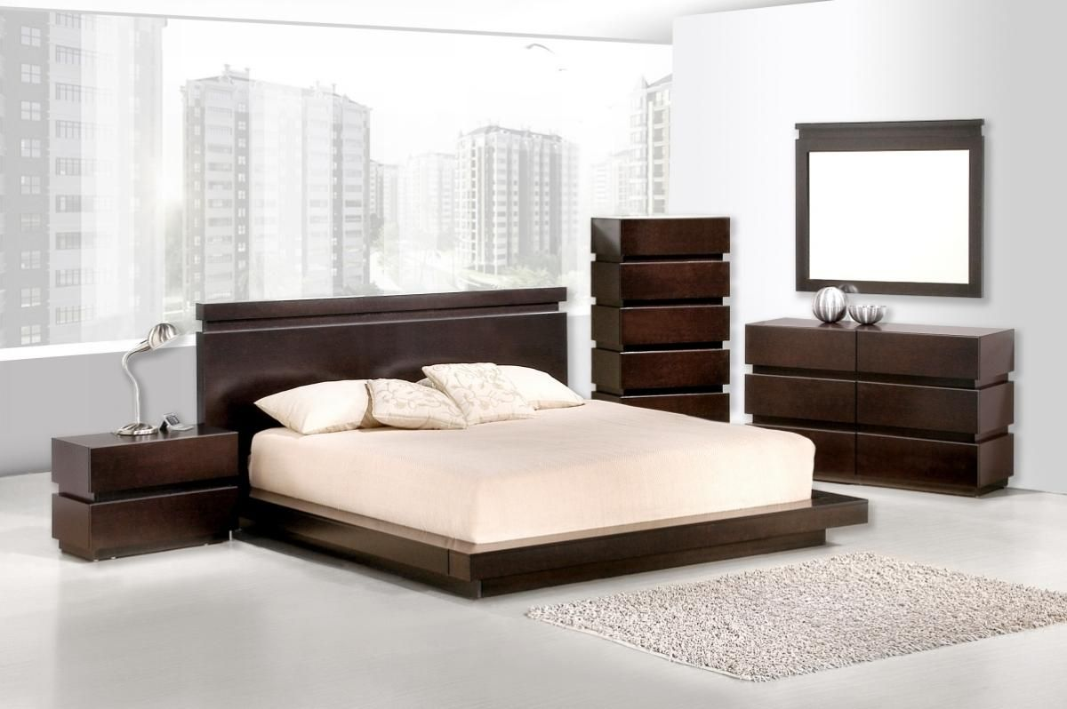 Overnice wood bedroom set design detroit michigan v jm for Modern bedroom sets