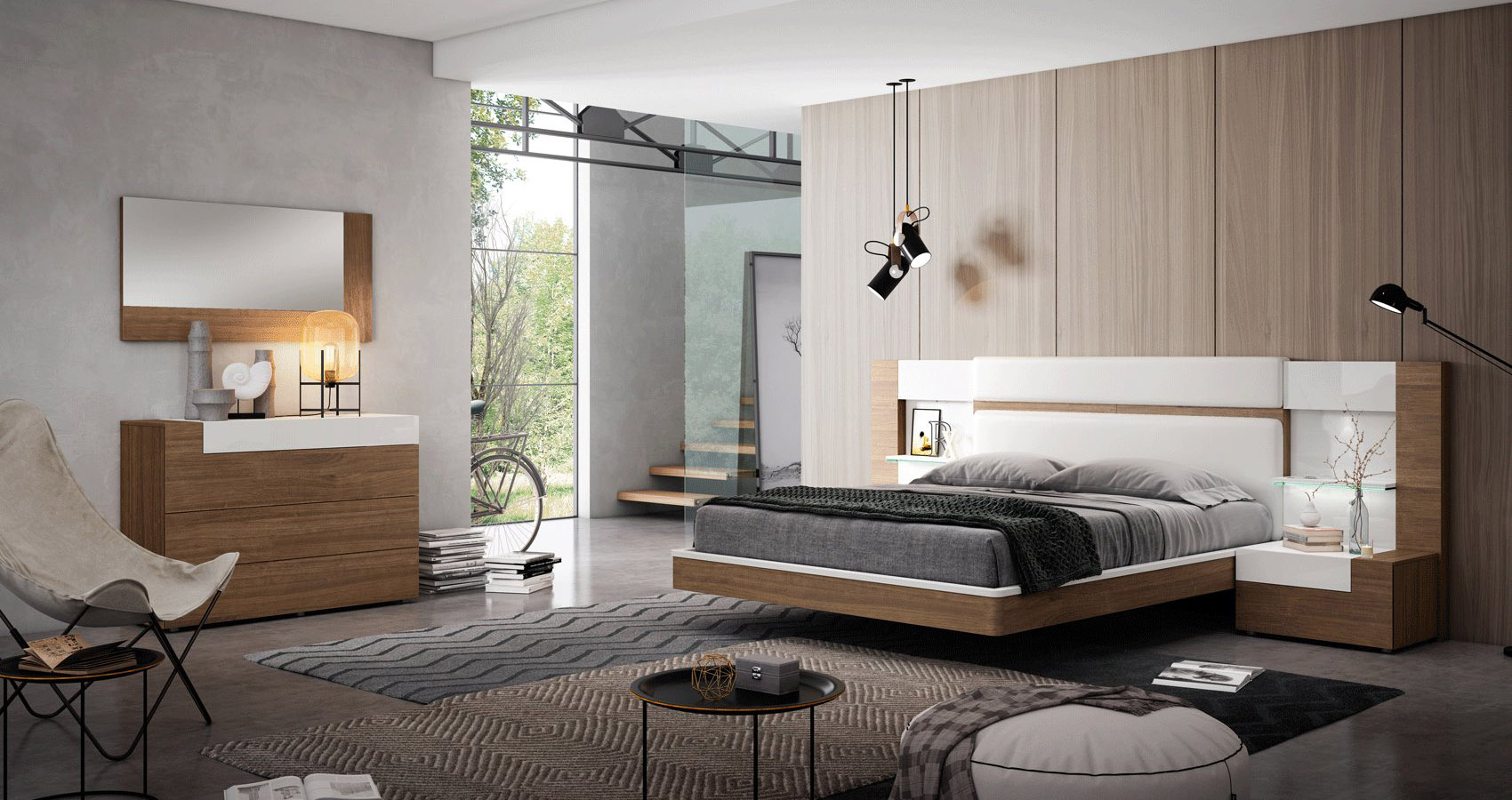 Graceful Wood Elite Modern Bedroom Sets
