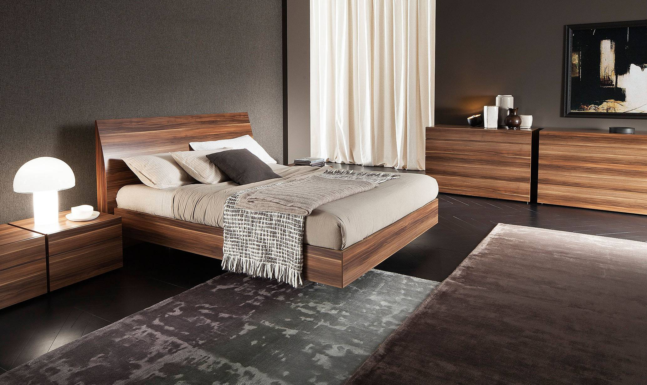 Elegant Wood Luxury Bedroom Furniture Los Angeles California Rossetto