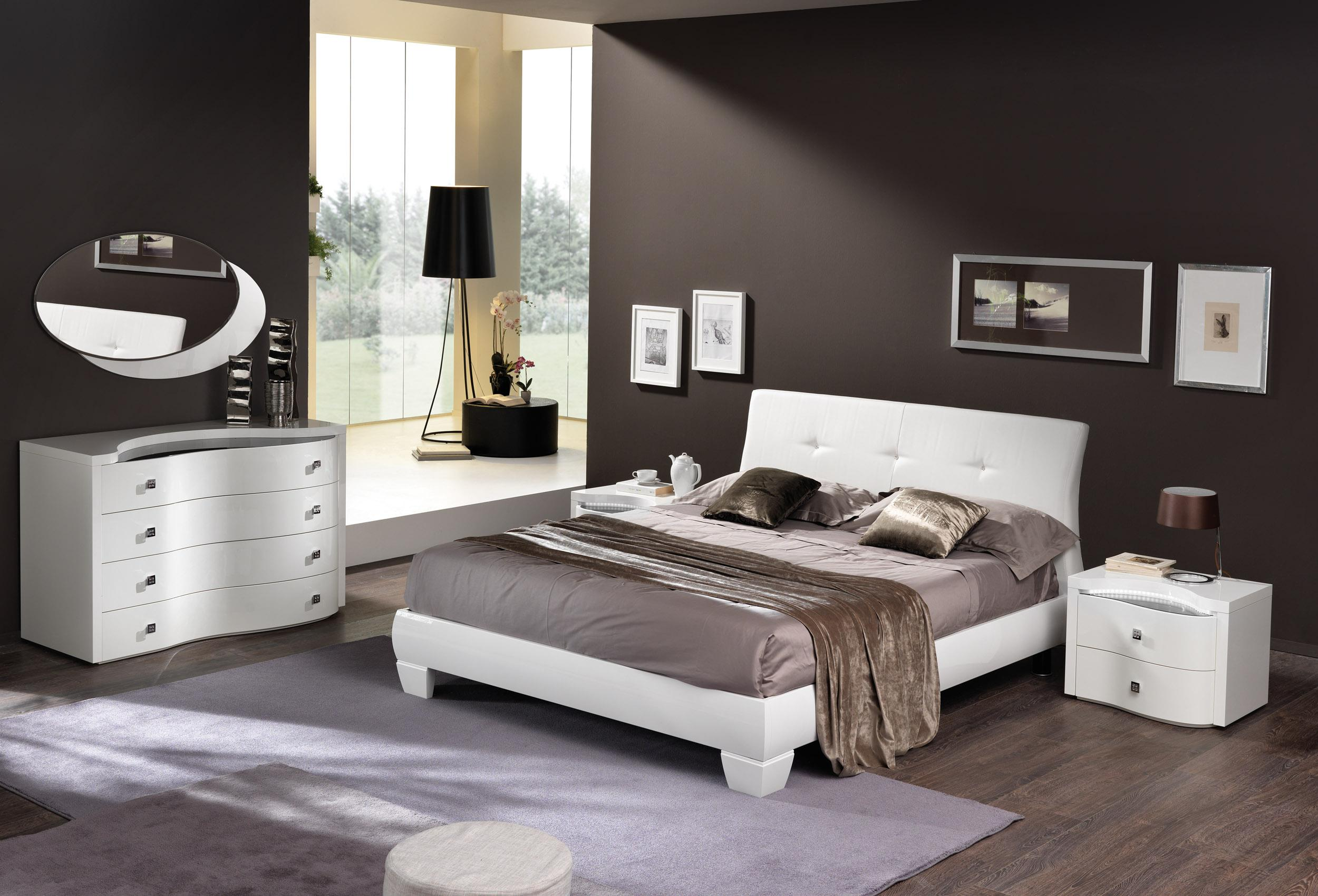 made in italy leather elite modern bedroom set jackson 16395 | white italian master bedroom with leather headboard spar disco