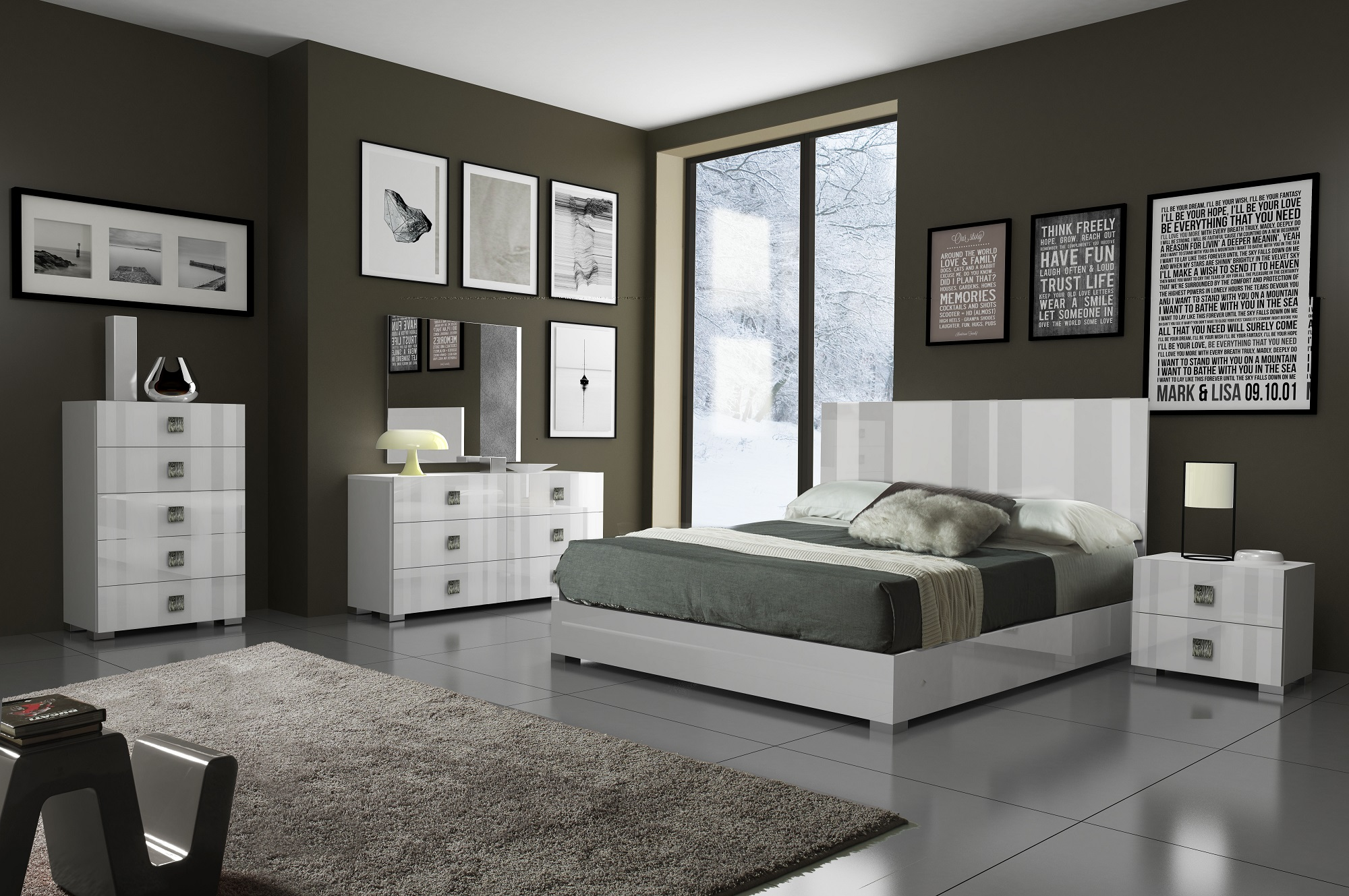 Unique Wood Modern Contemporary Bedroom Designs Glendale ...