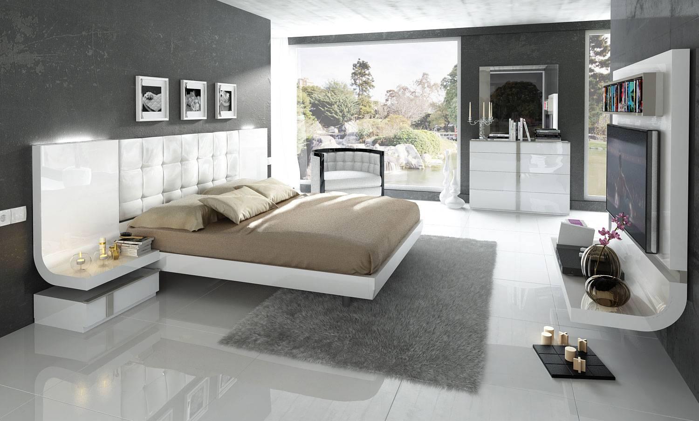 Stylish Wood Elite Modern Bedroom Set With Extra Storage Toledo Ohio Esf Granada