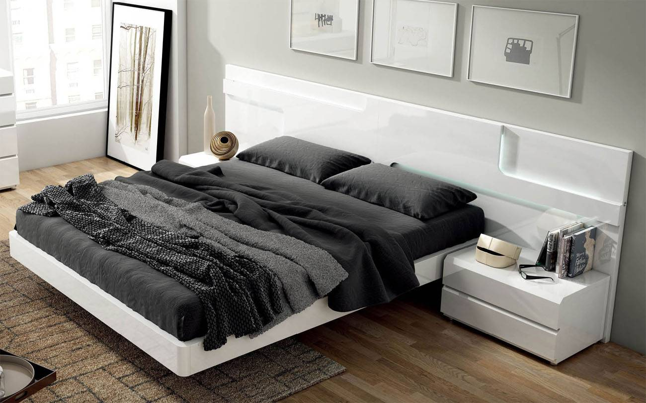 Made in Spain Quality Modern Contemporary Bedroom Designs with Extra Storage Columbus Ohio ESFSara