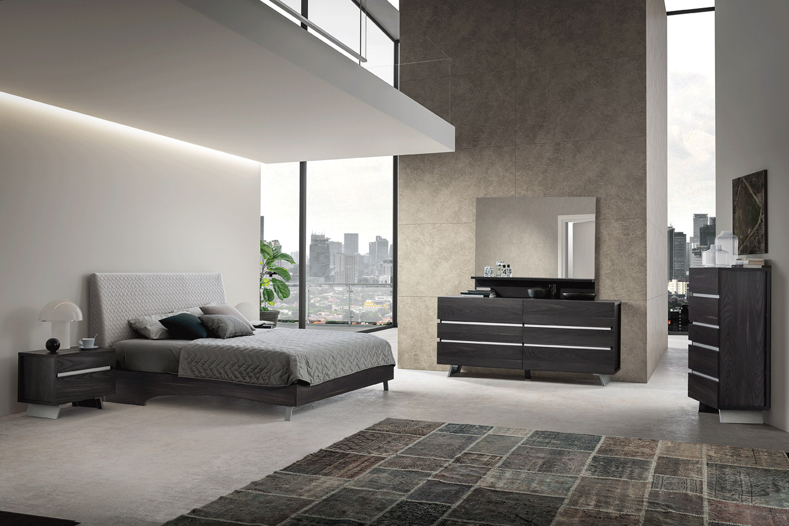 made in italy wood contemporary bedroom design flint 12547 | wood grain brown italian bedroom furniture suite status new star 01