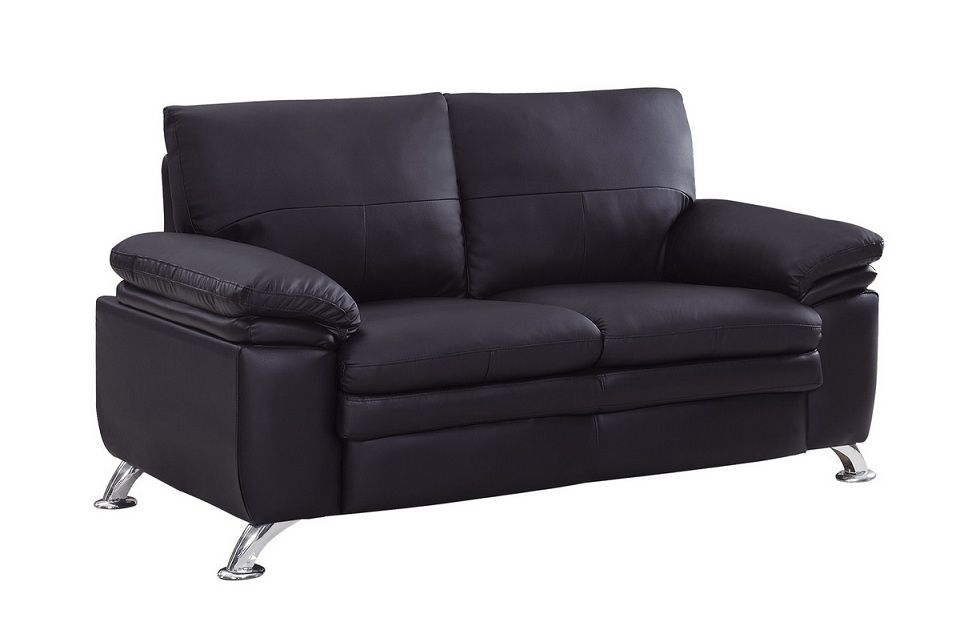 Soft Padded Bonded Leather Contemporary Loveseat Shop modern Italian ...
