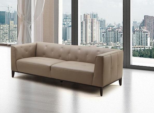 ultra contemporary unique design sofa in reach tan leather
