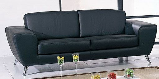 Julie Contemporary Sofa with Italian Leather