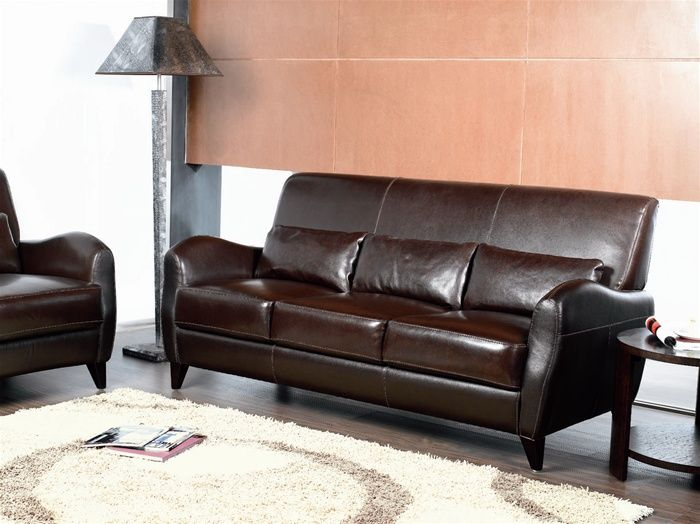 Surprising Classic Style Italian Leather Bernadino Sofa Caraccident5 Cool Chair Designs And Ideas Caraccident5Info