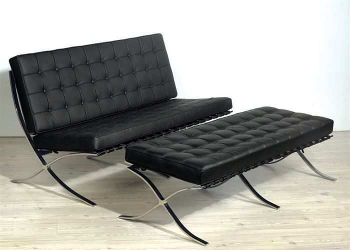 Italian leather contemporary leisure set in black or white prime classic design modern italian Modern sofas to go with any type of decor