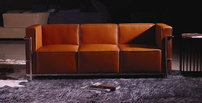 Le corbusier italian full leather sofa prime classic design modern italian and luxury furniture Modern sofas to go with any type of decor