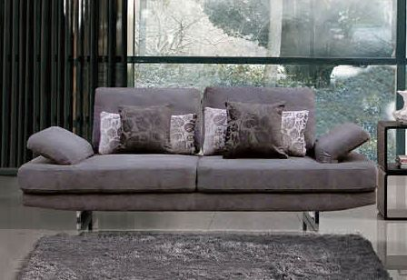 Contemporary Fabric Living Room Sofa with Adjustable Back