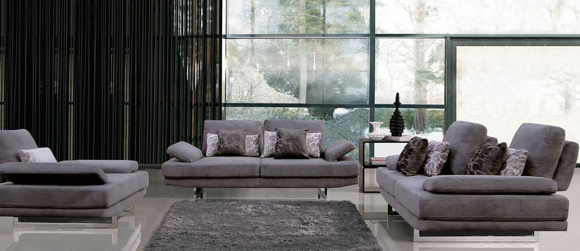 Contemporary Fabric Living Room Sofa with Adjustable Back Shop ...