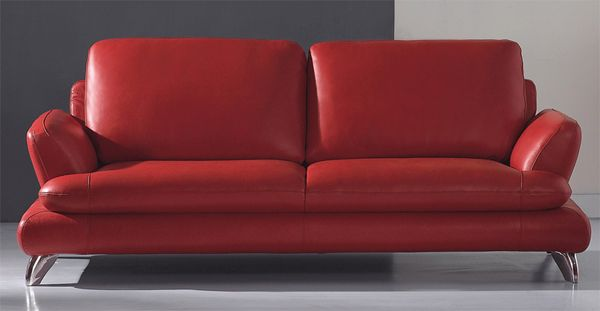 European Contemporary Style Leather Red Dawn Sofa Prime