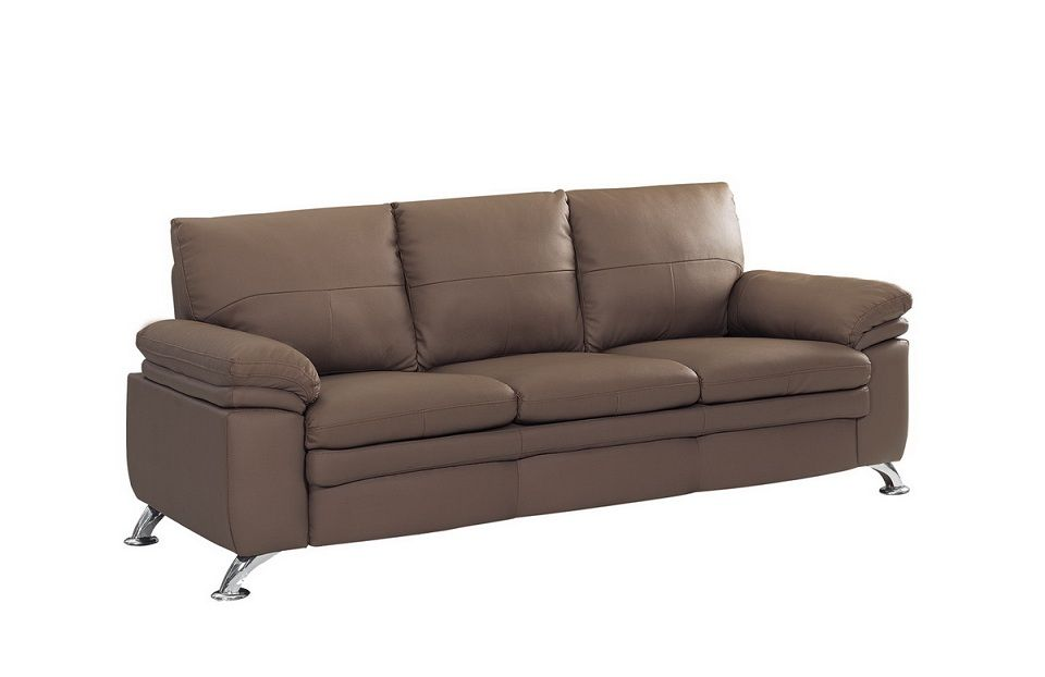 Soft Padded Bonded Leather Contemporary Sofa Prime Classic