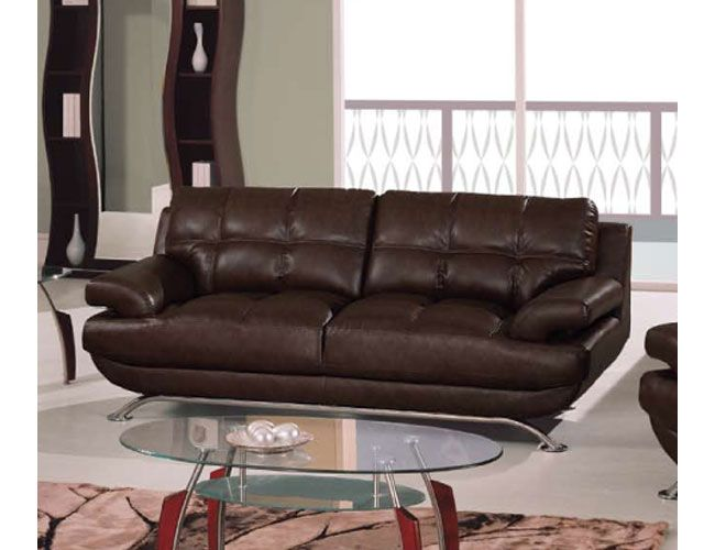 Sleek Durable Leather Sofa With Square Stitching Pattern Prime Classic Design Modern Italian