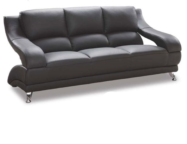 Futuristicly Shaped Contemporary Sofa in Leather Cover 982