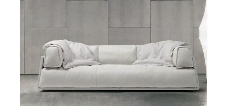 Iris Contemporary Fabric Sofa in White Shop Modern Italian and ...