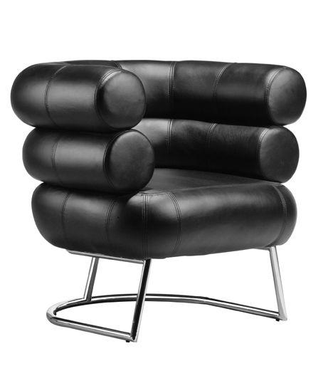 Leatherette Mercury Chair W Steel Tube Chrome Base Eileen