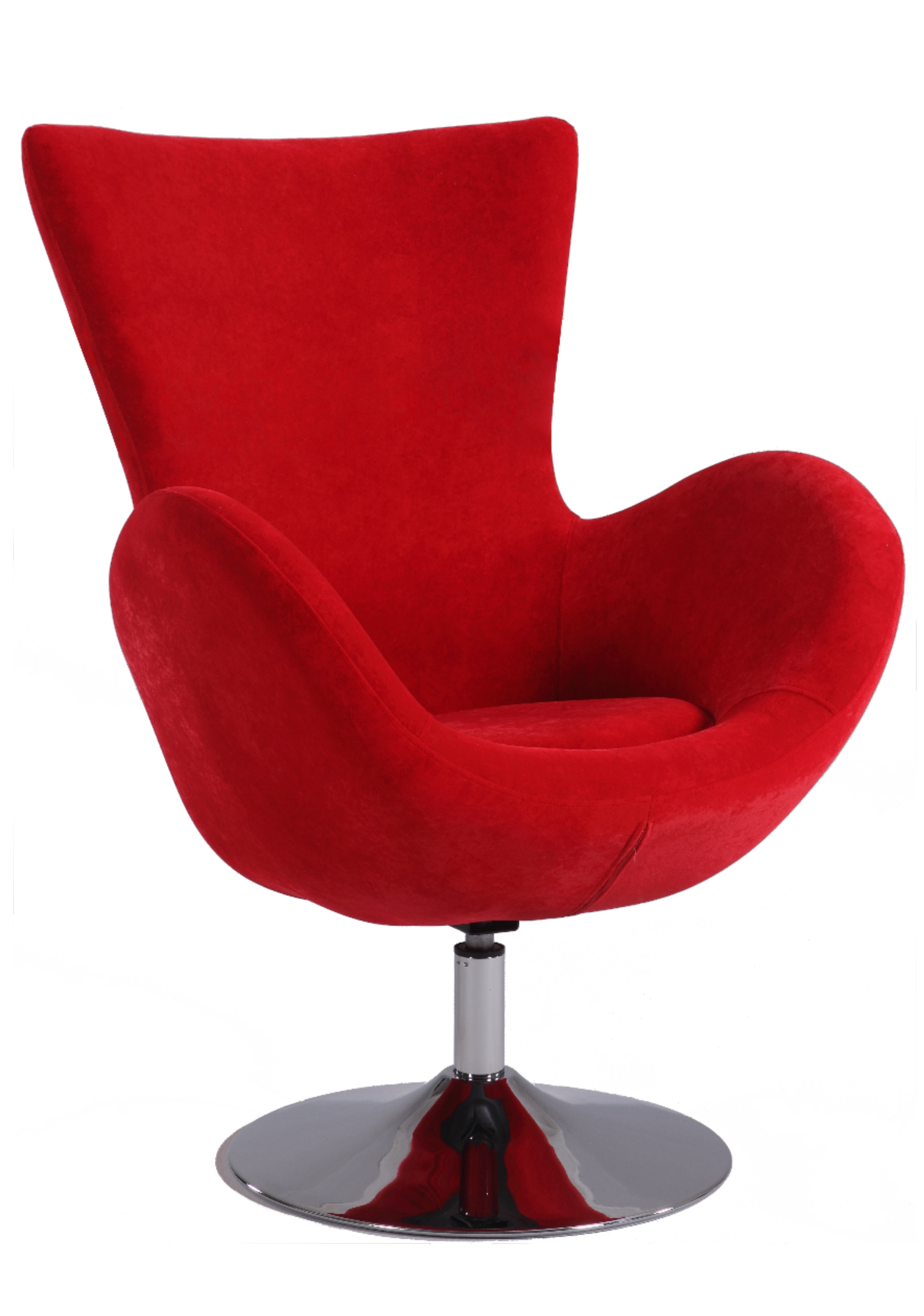 Contemporary Swivel Arm Chair Upholstered in Black or Red ...