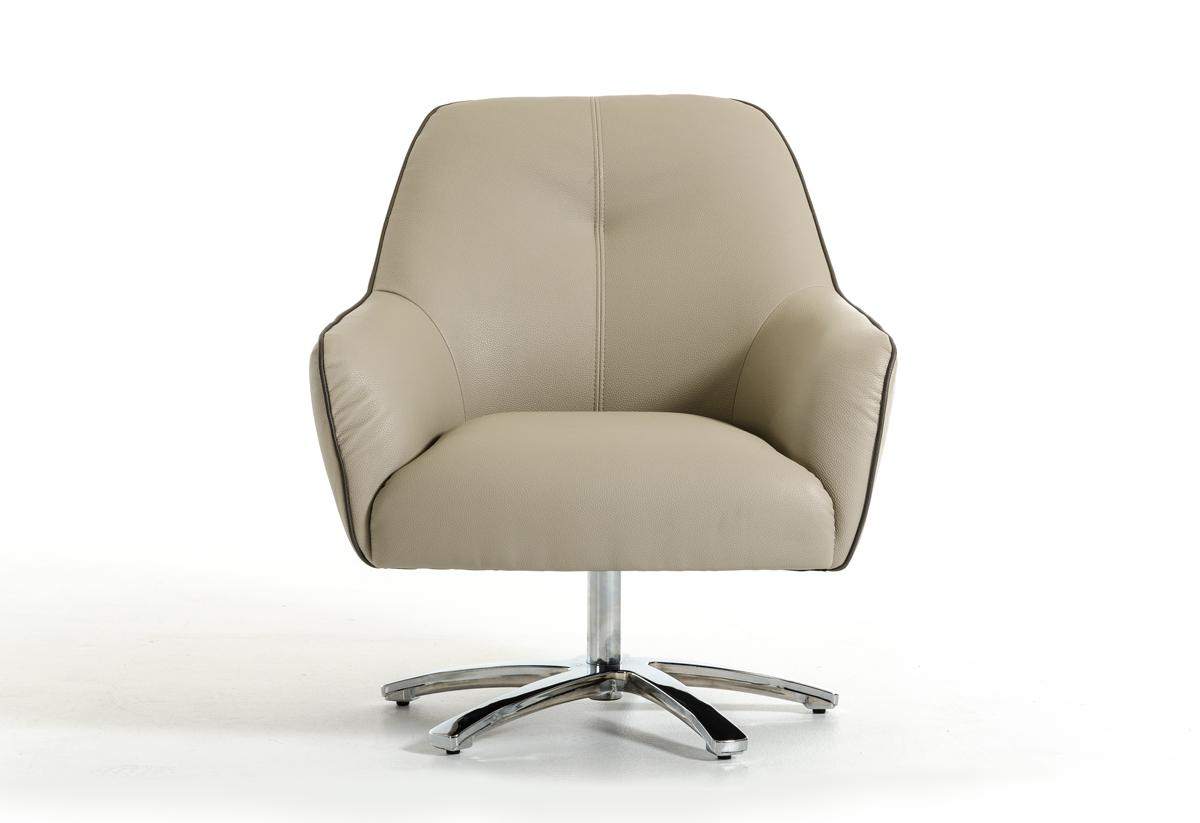 Contemporary light grey and dark grey eco leather lounge for Modern leather club chair