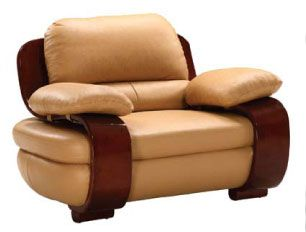 Marvelous Decoratively Stitched Tan Color Comfortable Leather Chair Cjindustries Chair Design For Home Cjindustriesco