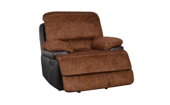 Contemporary Reclining Chairs : Contemporary Reclining Chair Upholstered in Pecan Microfiber Recliner ...