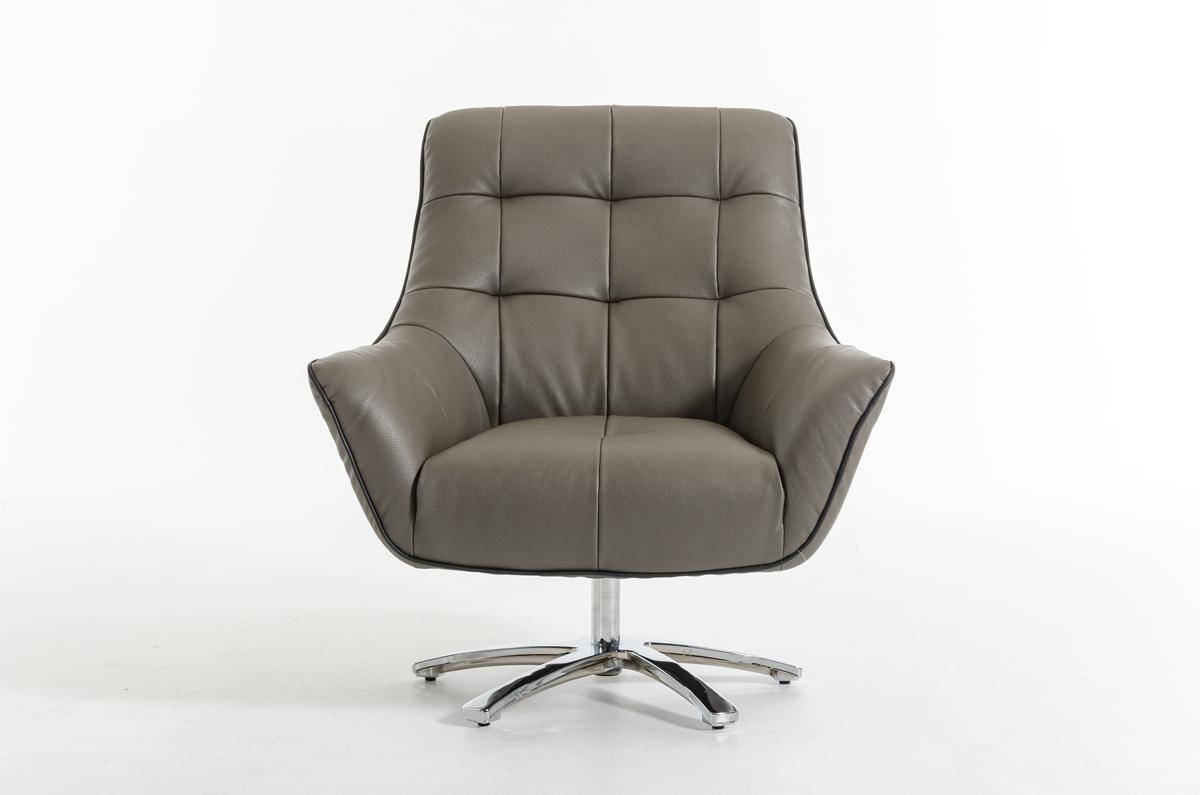 eco leather lounge chair with chrome frame and color options