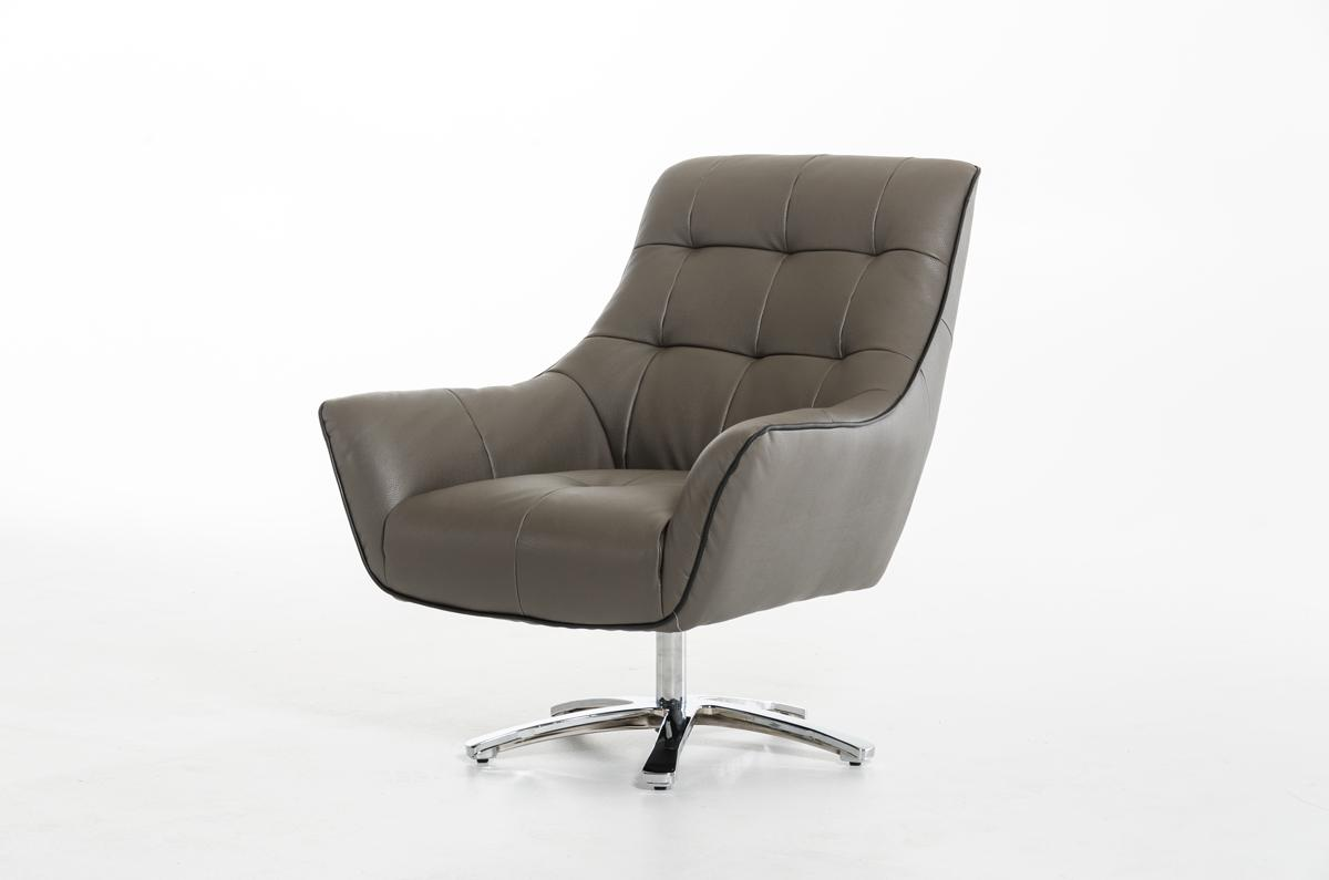 Eco Leather Lounge Chair with Chrome Frame and Color Options Oklahoma Oklahom