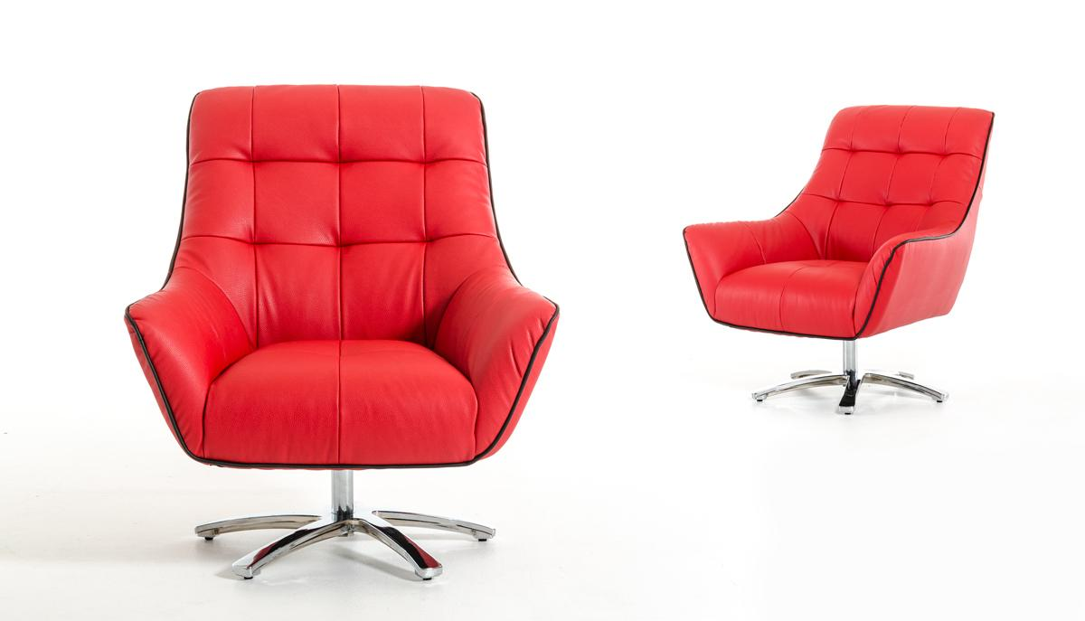 Eco leather lounge chair with chrome frame and color for Modern comfy chairs