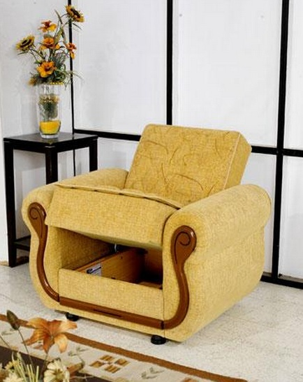 Manolia fabric living room chair with wood accent prime for Modern living room accent chairs